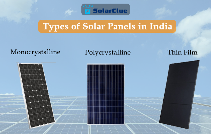 TYpes of Solar Panels in India