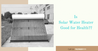 Is solar water heater good for health